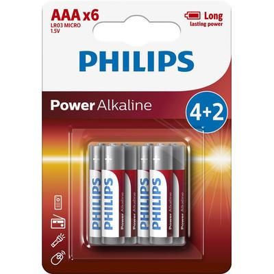 Philips PH POWER ALKALINE AAA 4+2-BLISTER PROMO