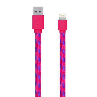 SERIOUX APPLE MFI FAB CABLE 1M PINK