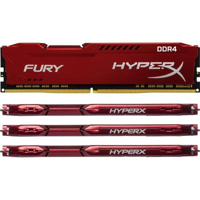 Memorie HyperX Fury Red 32GB DDR4 2400MHz CL15 1.2v Quad Channel Kit