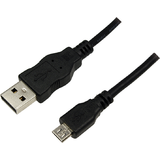 USB Male la microUSB Male, 1.8 m, Black