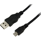 USB Male la microUSB Male, 0.6 m, Black