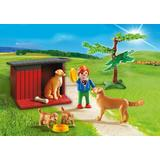 Jucarie PLAYMOBIL Golden Retrievers with Toy