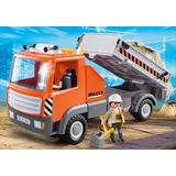 Jucarie PLAYMOBIL Flatbed Workman's Truck