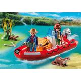 Jucarie PLAYMOBIL Inflatable Boat with Explorers