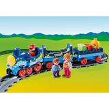 Jucarie PLAYMOBIL Night Train with Track