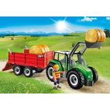 Jucarie PLAYMOBIL Large Tractor with Trailer
