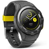 Smartwatch Huawei Watch W2 Sport negru, curea silicon gri