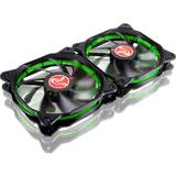 Raijintek AURA 12 Green LED, 2 Pack