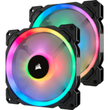Corsair LL140 RGB LED Static Pressure 140mm Twin Pack, Controler inclus