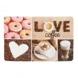 Placemat plastic 23x43 cm Coffee