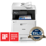 DCP-L8410CDW, Laserjet color, A4, 31 ppm, Duplex, ADF, Retea, Wireless (Alb)