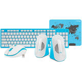 Kit Tastatura si Mouse Natec Tetra Wireless Blue-White