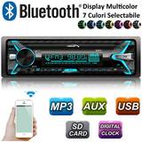 Player Auto Audiocore AC9710 MP3/WMA/USB/RDS/SD ISO Panel Bluetooth Multicolor