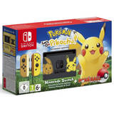 Switch + Pokemon Let's Go Pikachu + Poke Ball