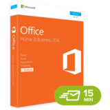 Microsoft Office 2016 Home and Business, RETAIL
